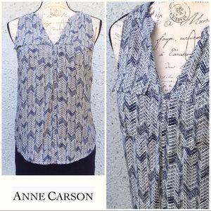 Anne Carson Sleeveless V-neck  Blouse